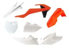 New Plastic Kit Orange/White KTM SX SXF 125 250 350 450 2016-2018 Racetech